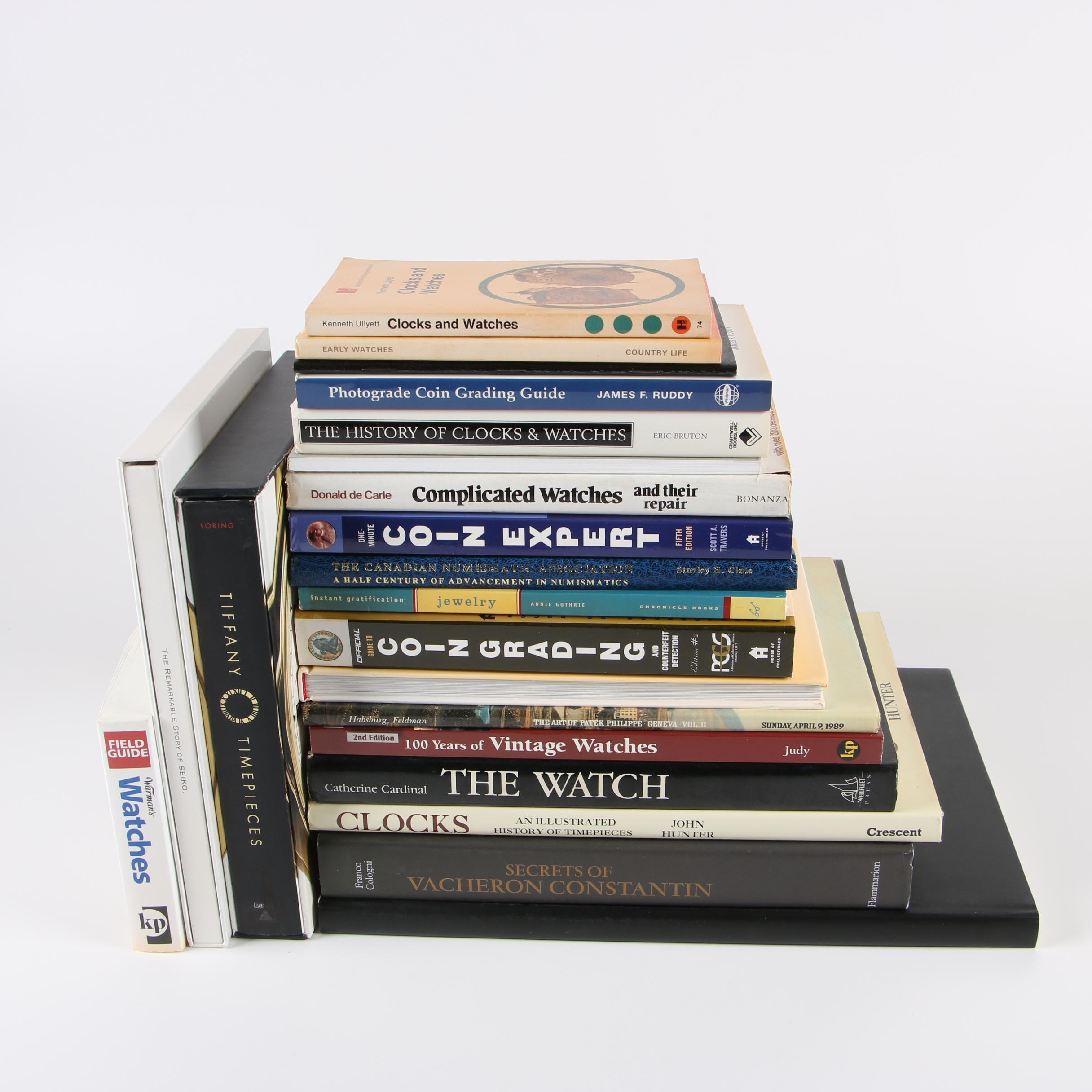 Books on Clocks, Watches, Coins, and Jewelry