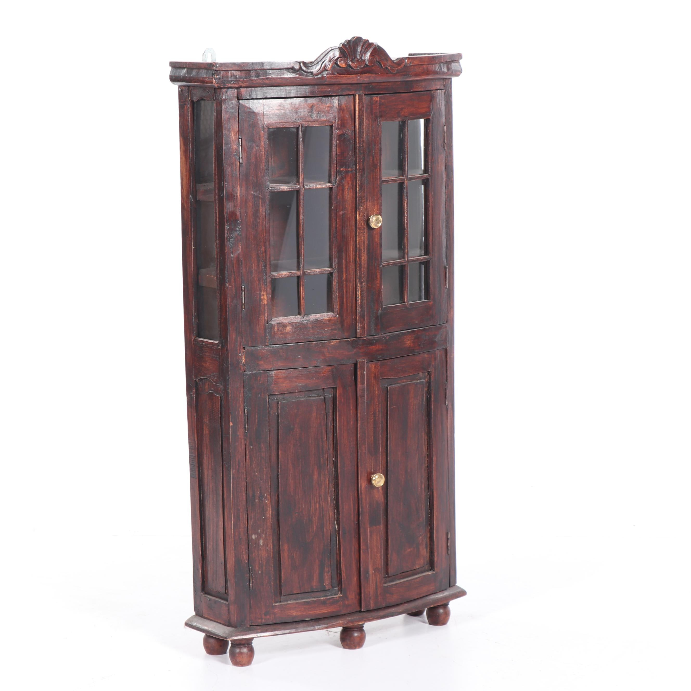Wooden Wall-Hanging Curio Cabinet