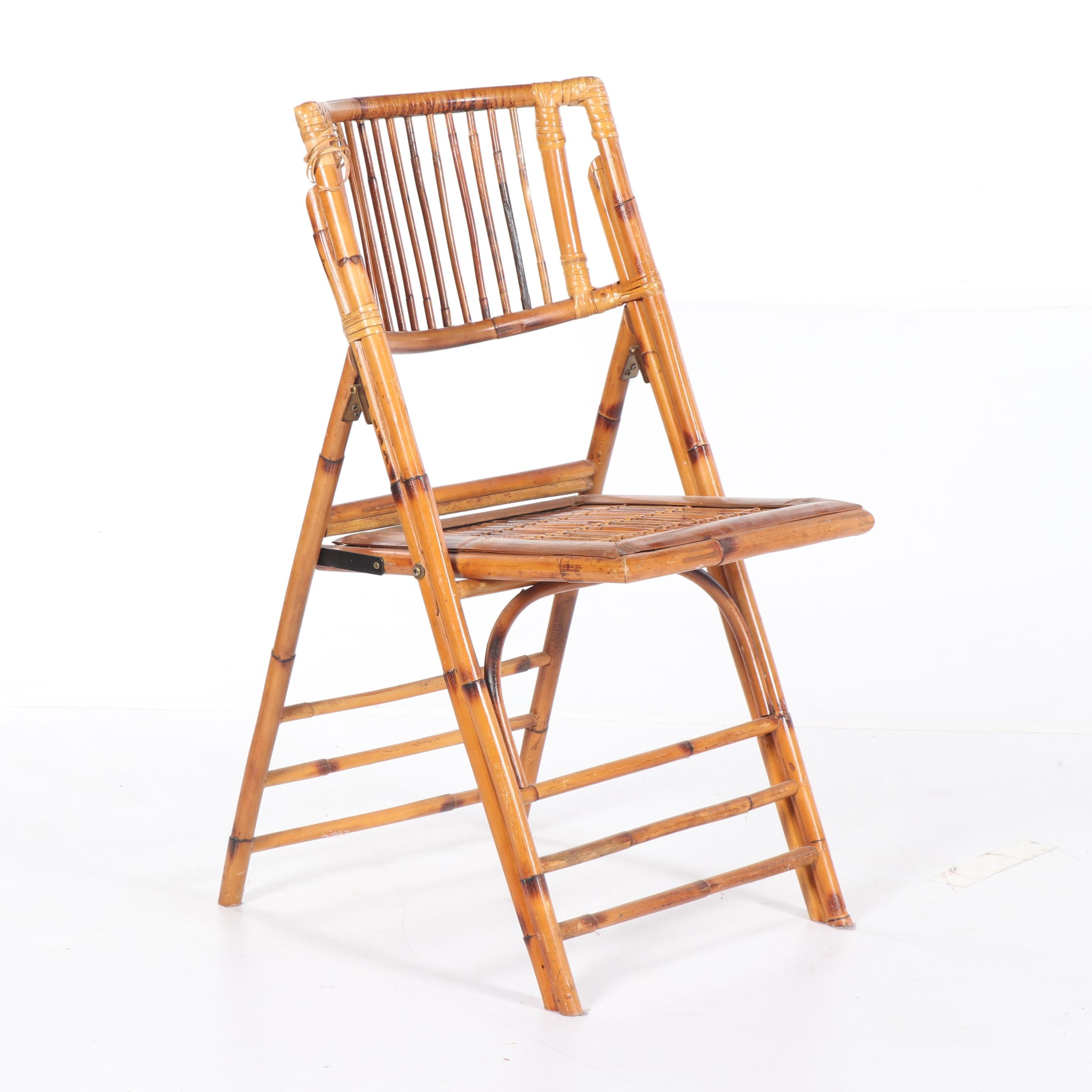 Rattan Folding Chair, Late 20th Century