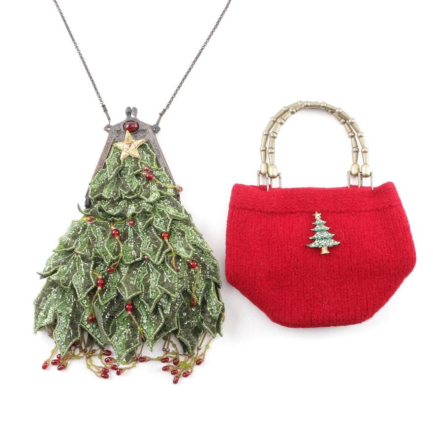 Christmas Themed Embellished Handbags