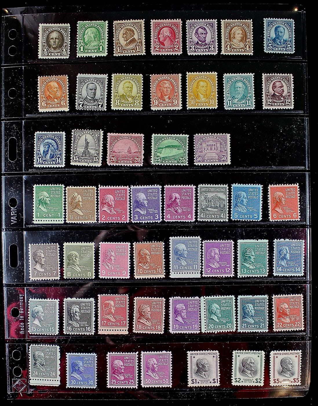 Group of 50 U.S. Mint Stamps