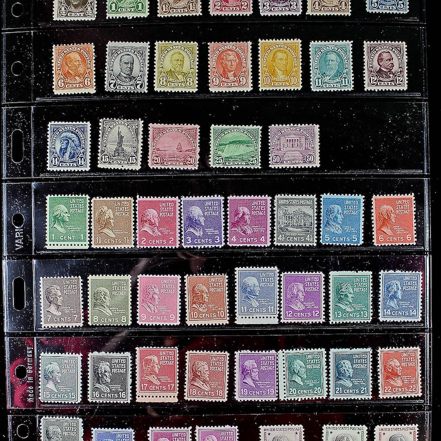 Group Of 50 US Mint Stamps EBTH