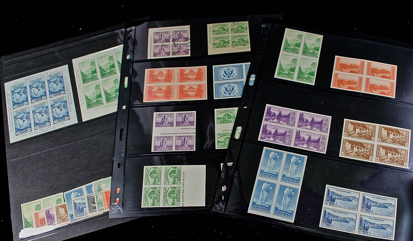 Collection of U.S. Farley Postage Stamps