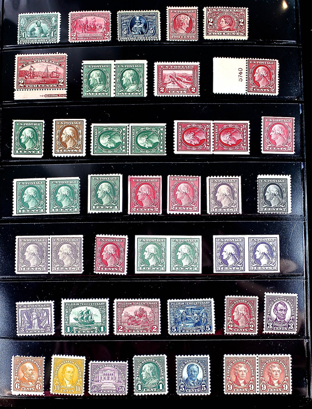 U.S. Stamp Collection Including 87 Various Stamps