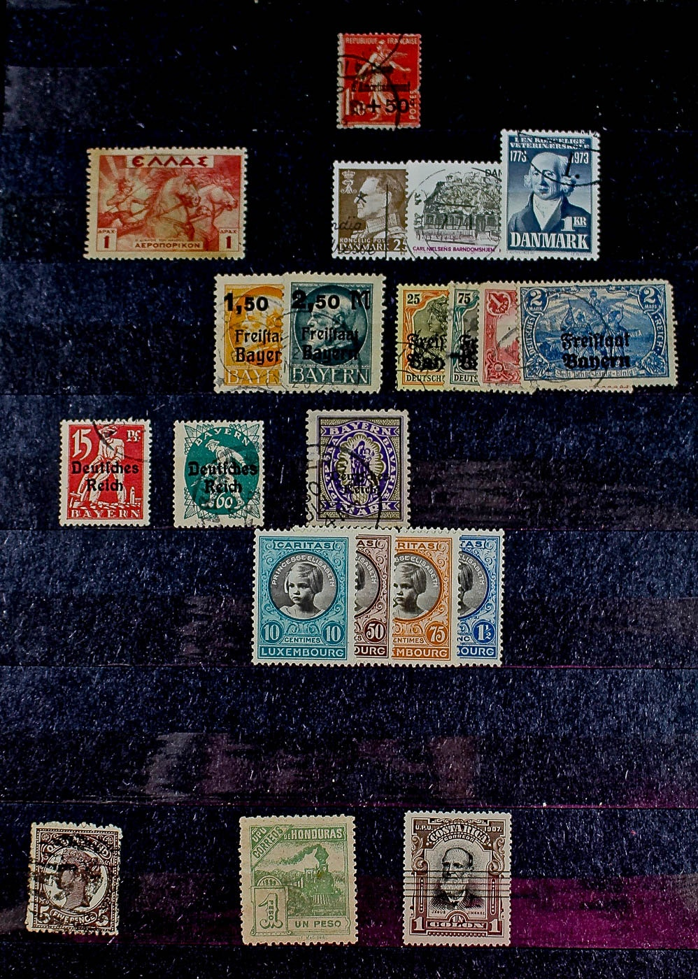Stamp Dealer's Foreign Postage Stamp Inventory Collection