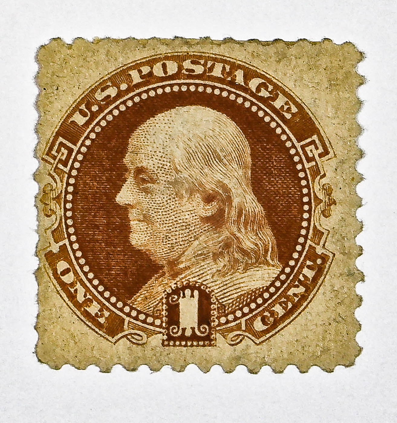 1869 Scott # 112 U.S. One Cent Postage Stamp in Mint Condition