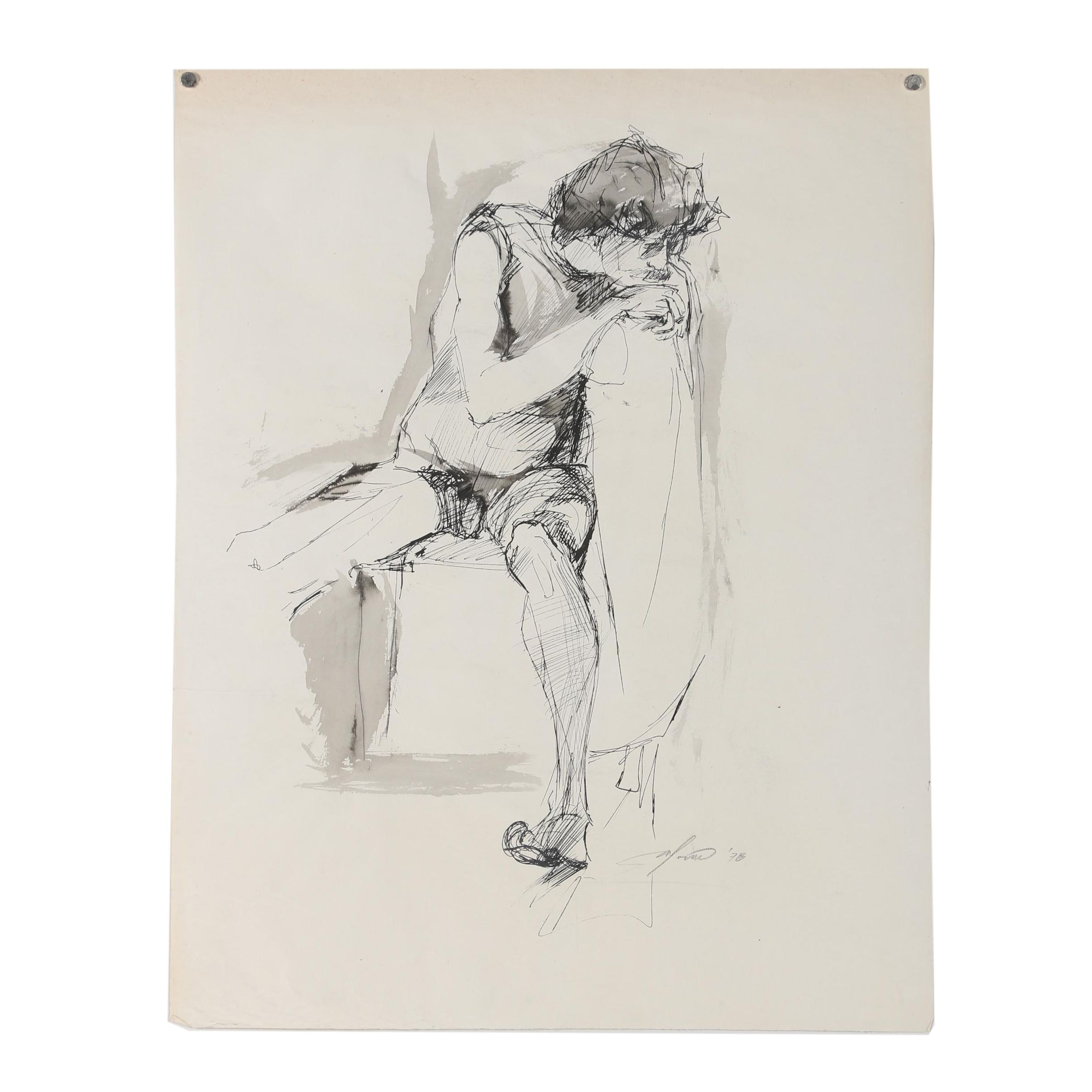 Ricardo Morin Ink Figure Drawing