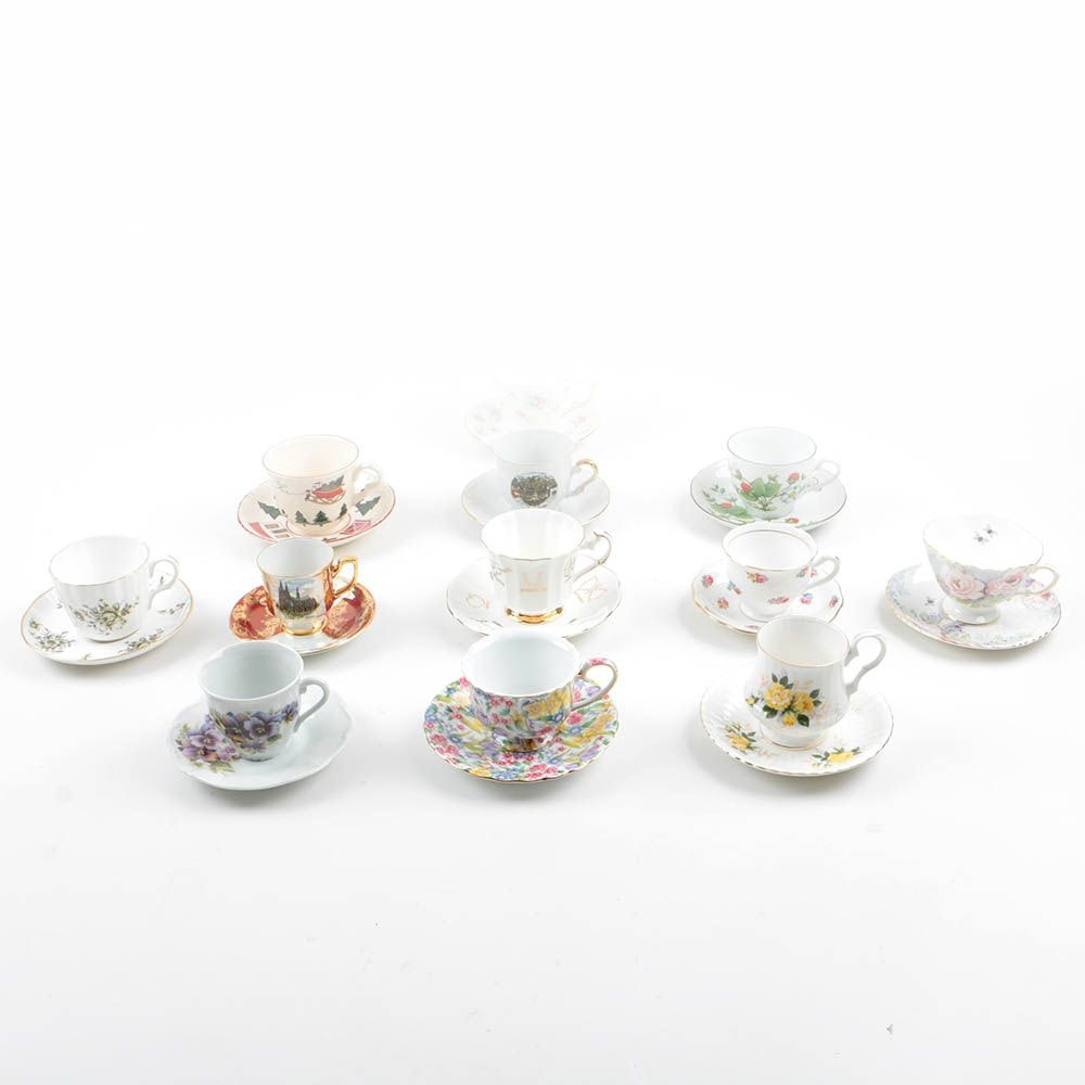Collection Of Twelve Porcelain Cups And Saucers