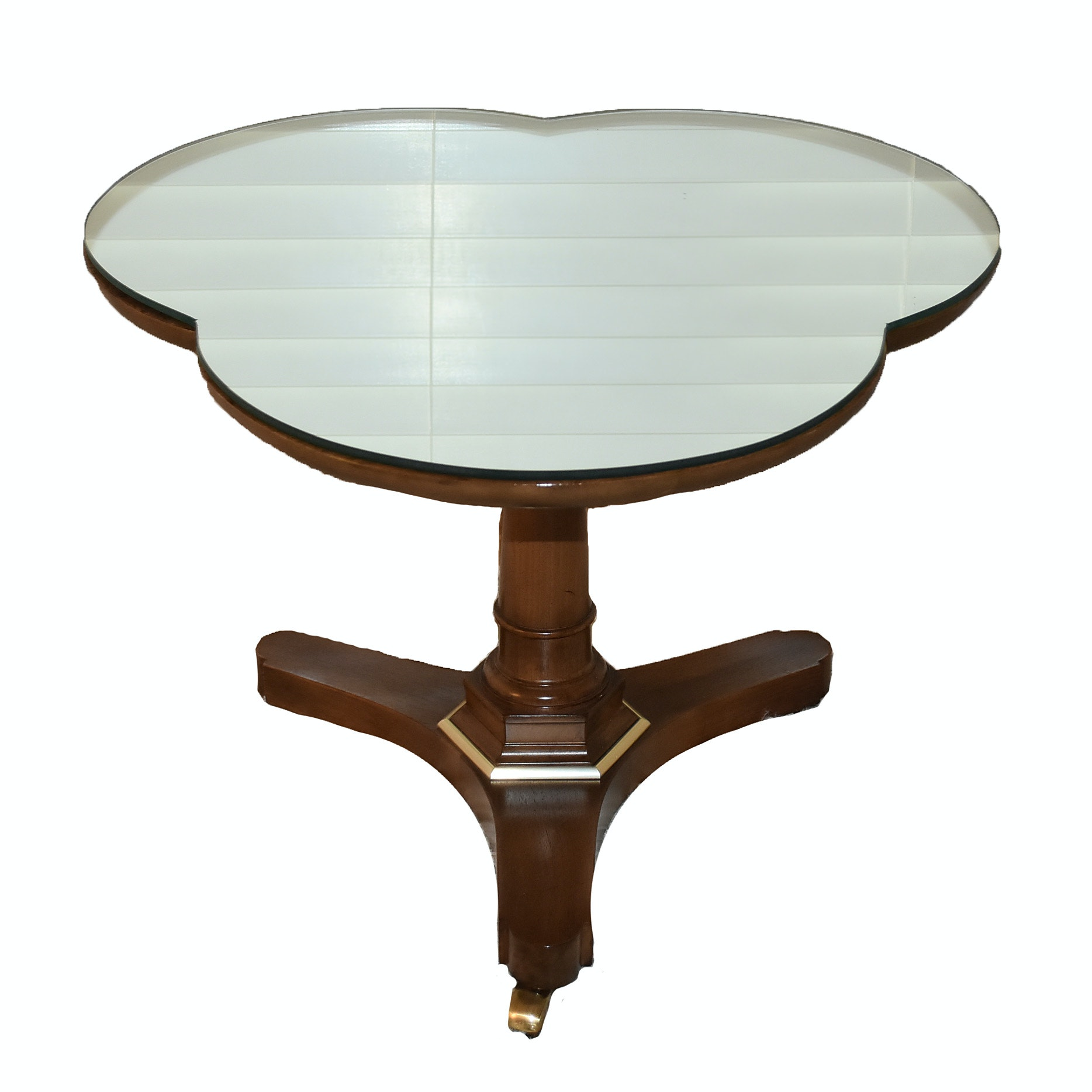 Empire Style Mahogany Mirrored Trefoil Top Table, Early 20th Century