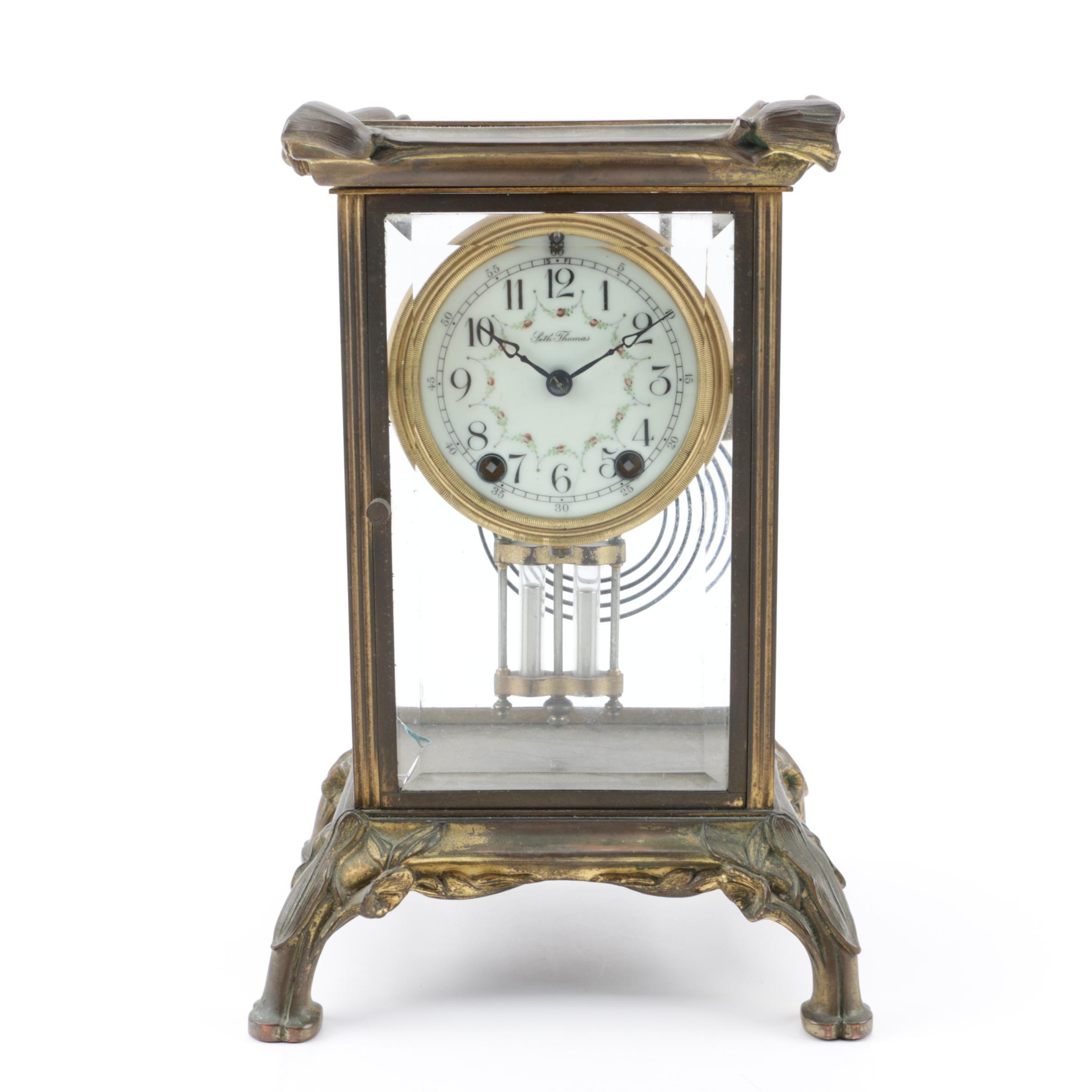 Seth Thomas Gilt Bronze and Mercury Pendulum Clock, 19th Century