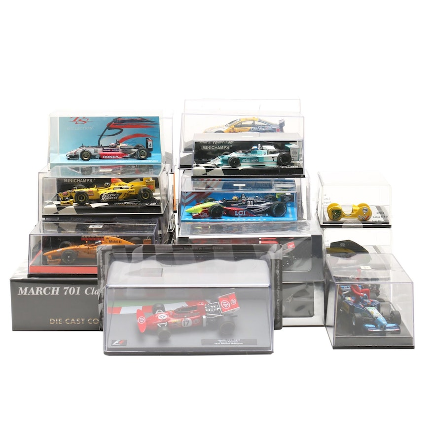 Indy Diecast Race Cars Including Hot Wheels, Schuco, Paul's Model Art and More