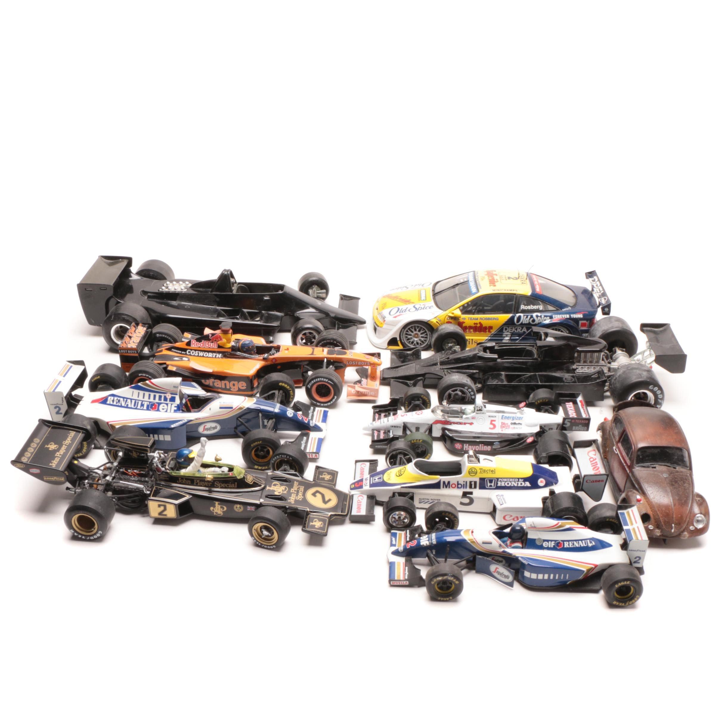 Die-Cast Indy Cars Including Polistil and Burago Lotus