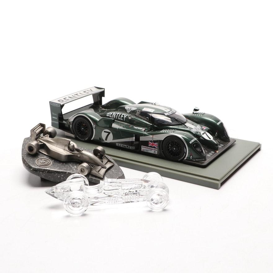 2003 Resin Bentley Model Car, Atlantis Crystal Talbot Lago Paperweight and More