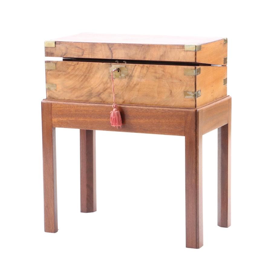 Antique Portable Writing Trunk ... - Antique Portable Writing Trunk : EBTH