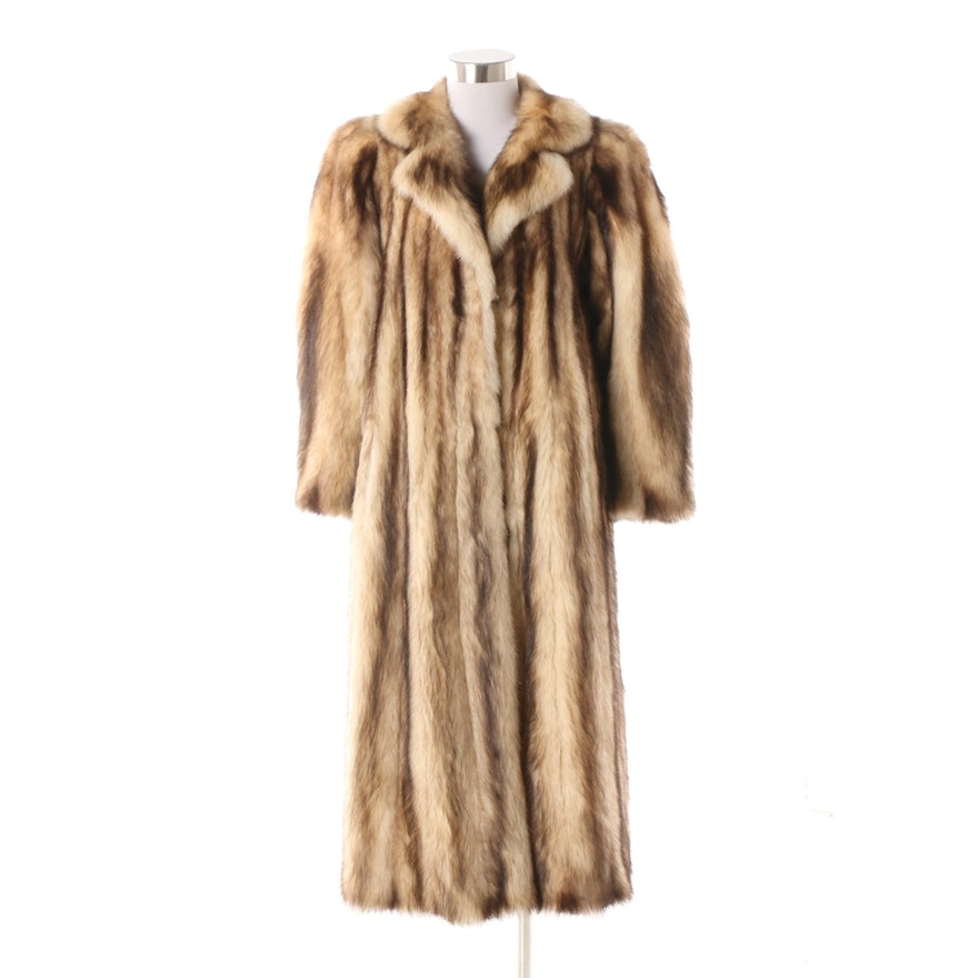 ca7aa30d78e Vintage Yves Saint Laurent Fitch Fur Coat from I. Magnin | EBTH