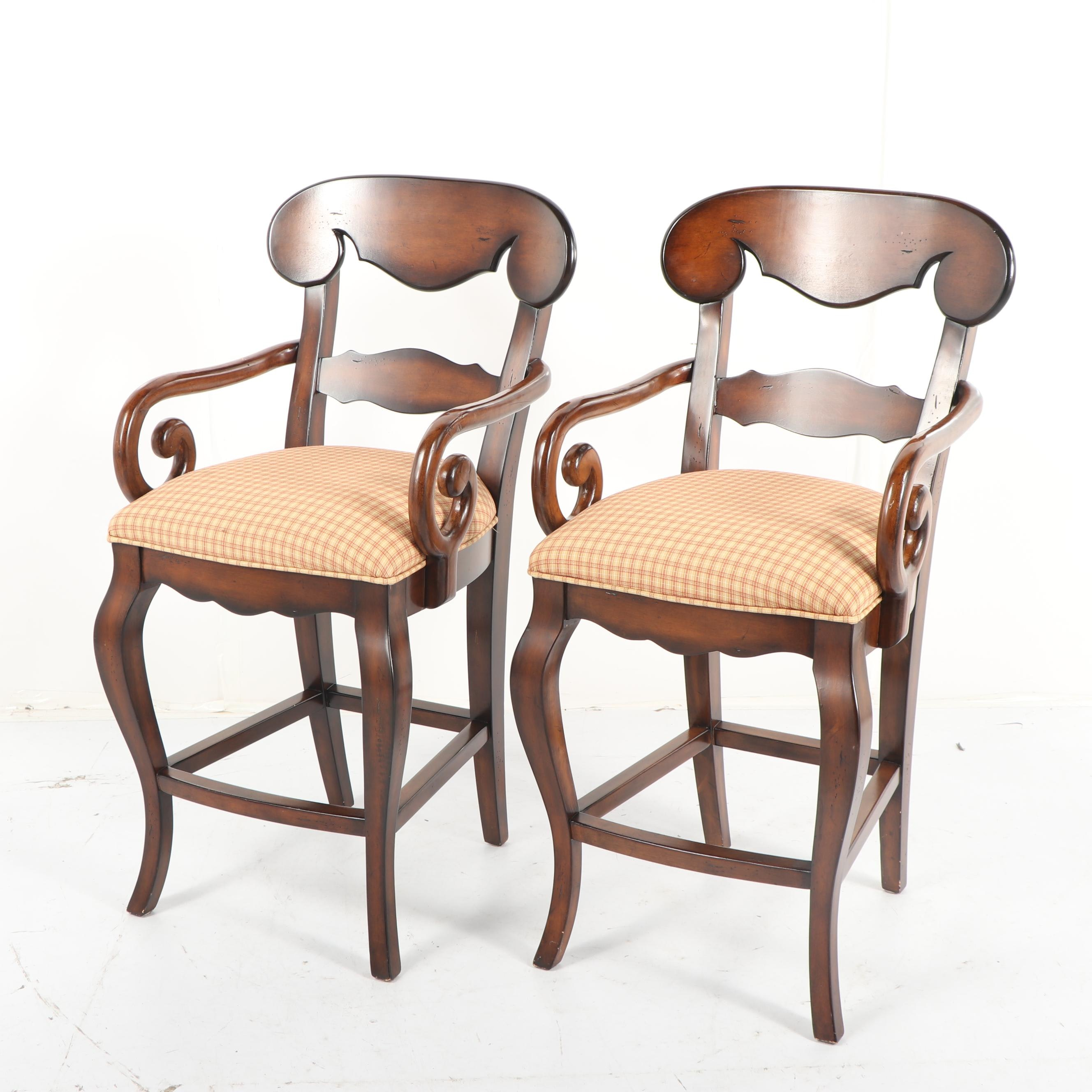 Empire Style Barstools by Hooker Furniture, 21st Century