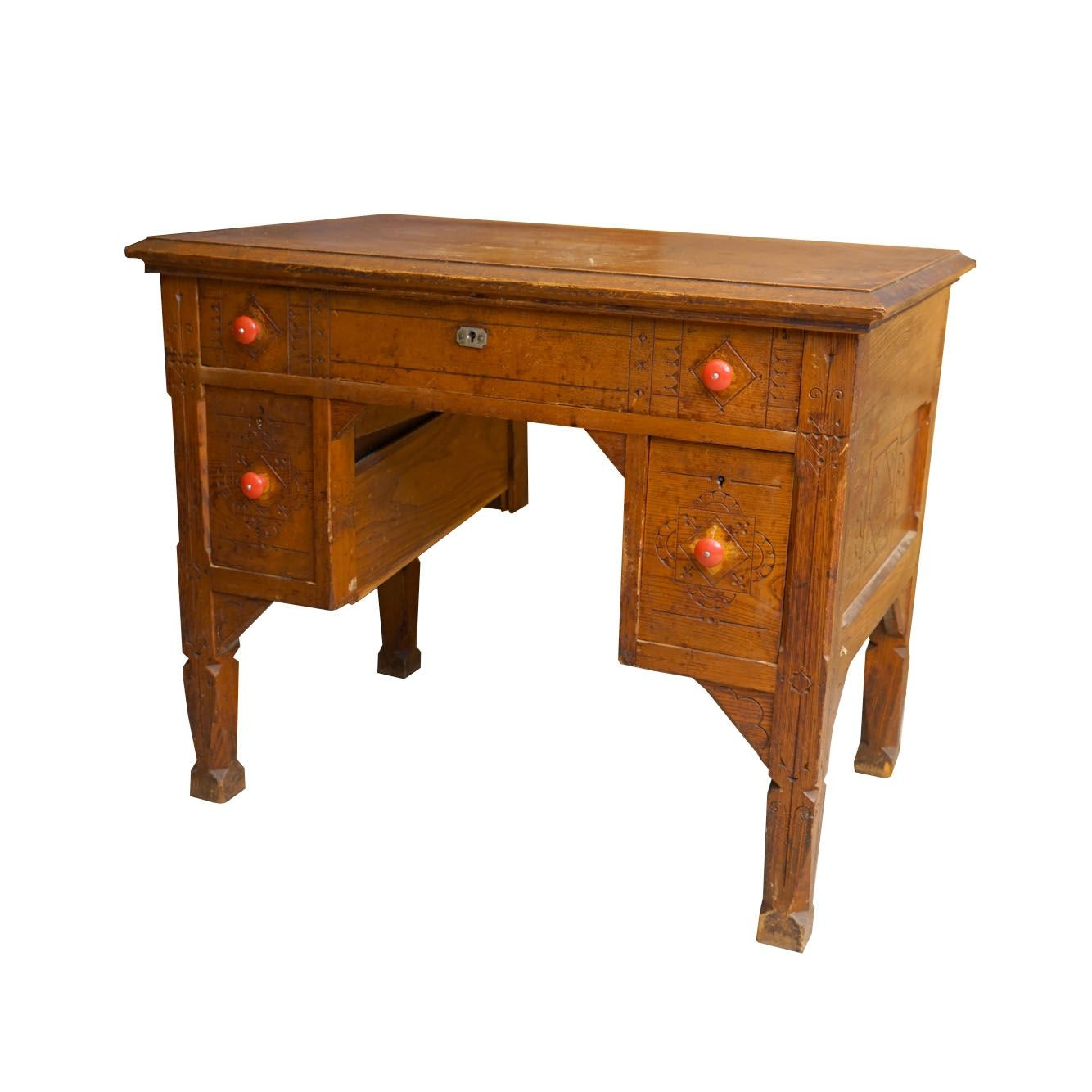Victorian Pine Desk, Late 19th Century