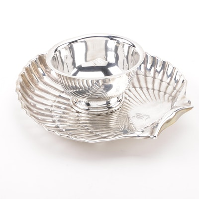 Gorham Sterling Shell Bon Bon Bowl with Baldwin & Miller Revere Bowl