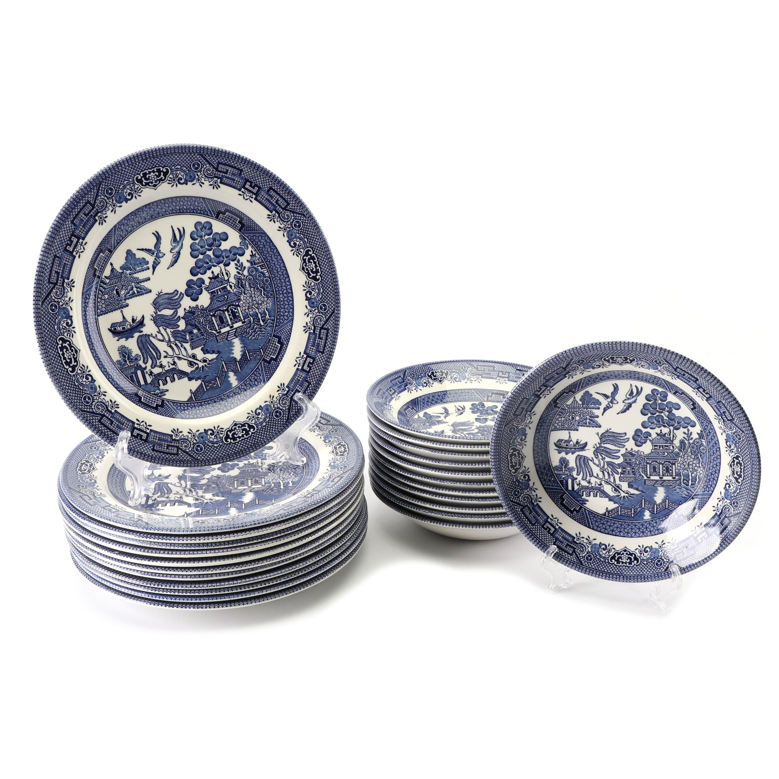 """Churchill """"Willow"""" Earthenware Bowls and Plates"""