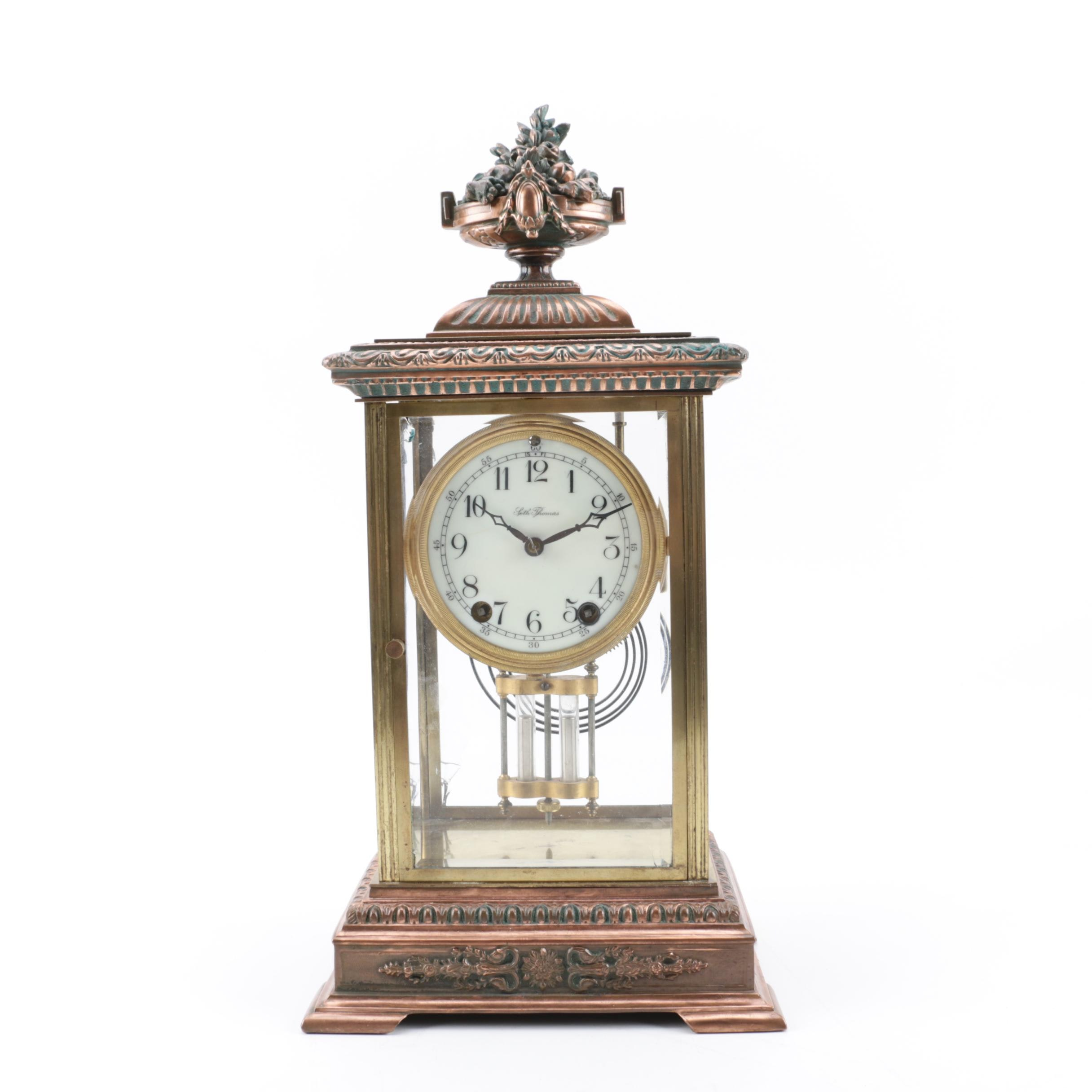 Seth Thomas French Empire Style Mantel Clock, Early 20th Century