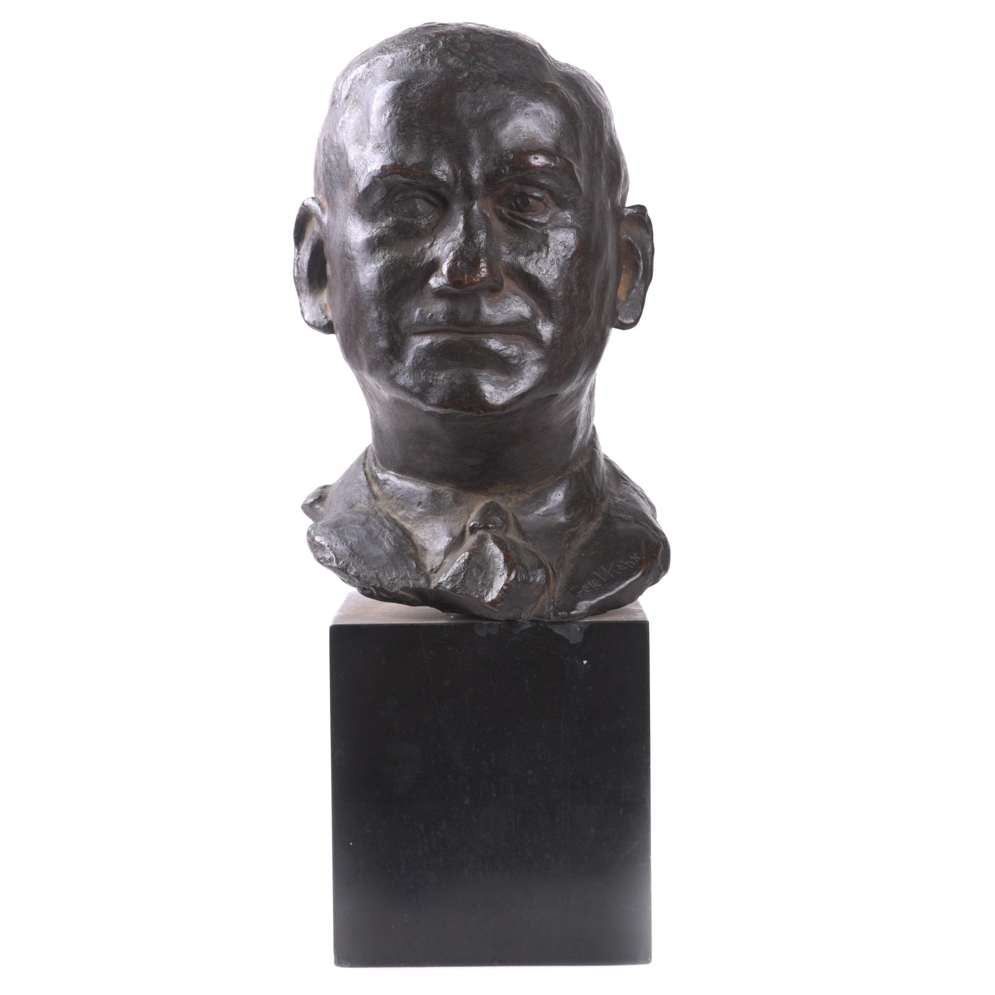 Getel Kahn Cast Bronze Bust
