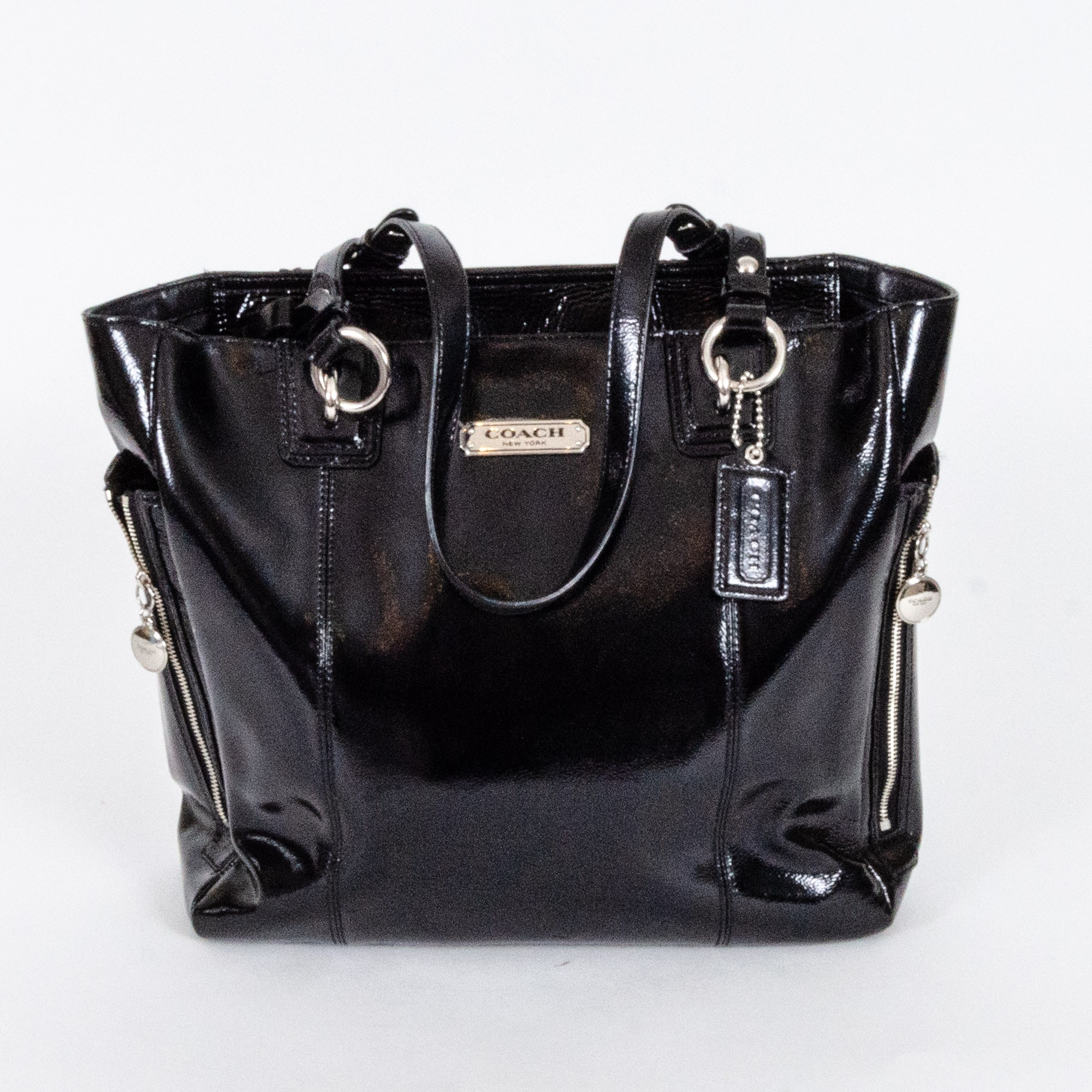Coach Black Patent Leather Satchel