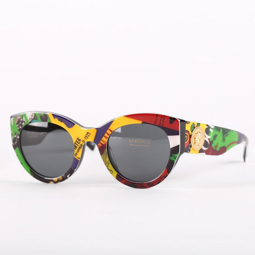 1ca4b793de Versace 4353-A Tribute Collection Vogue Black Sunglasses   EBTH