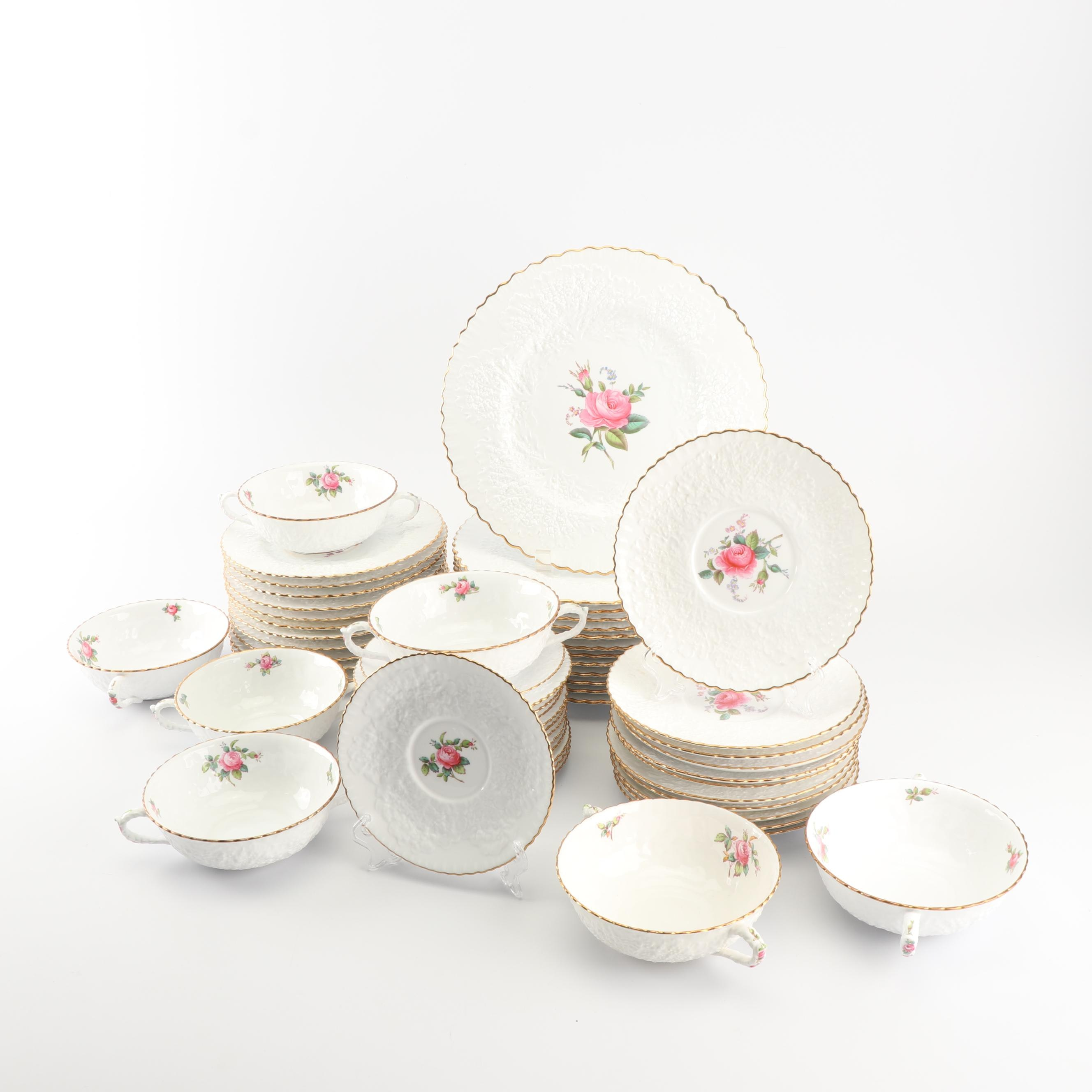 "Spode ""Savoy Billingsley Rose"" Earthenware Dinnerware c. 1924-69"