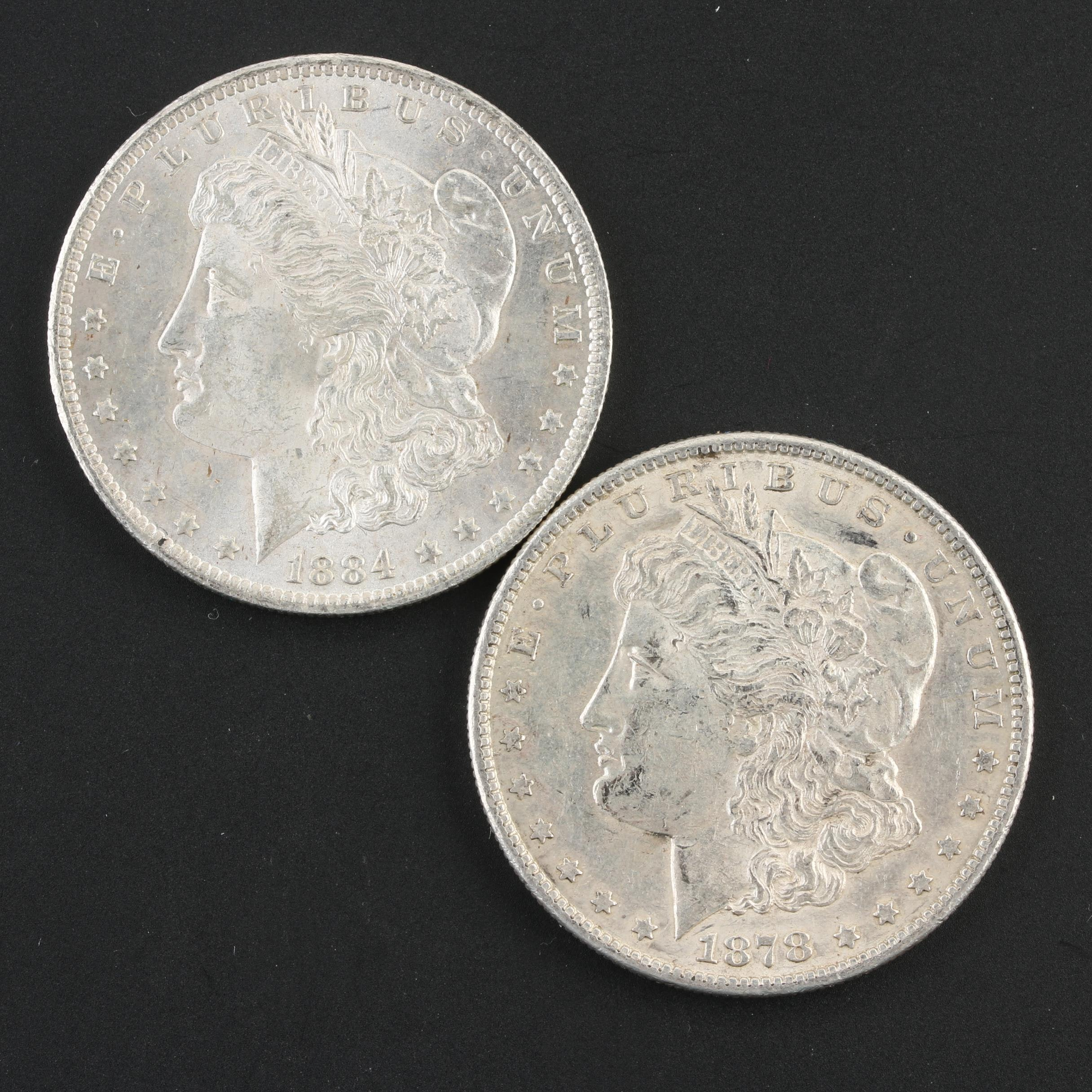 1878-S and 1884-O Morgan Silver Dollars