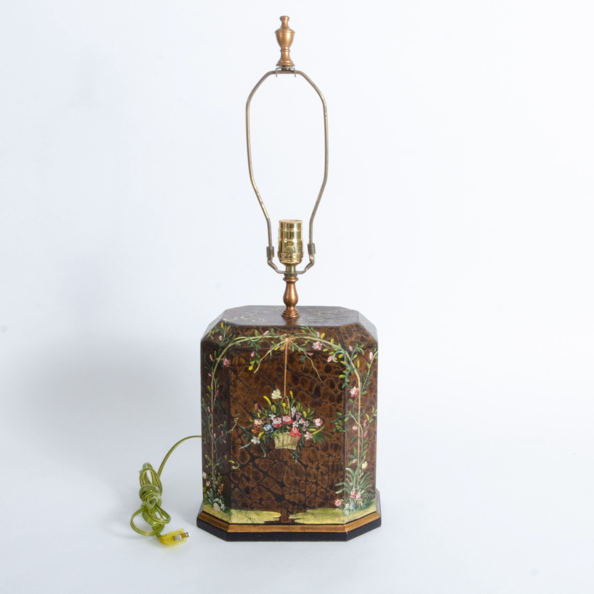 Hand Painted Wood Table Lamp from The Bradburn Gallery