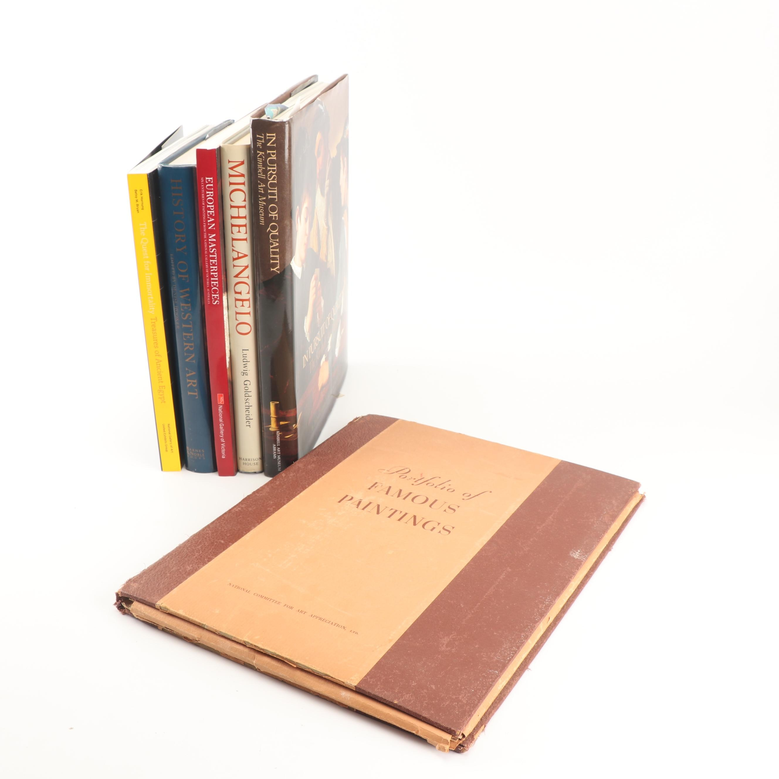 """1986 """"Michelangelo: Paintings, Sculpture, Architecture"""" and Other Art Books"""