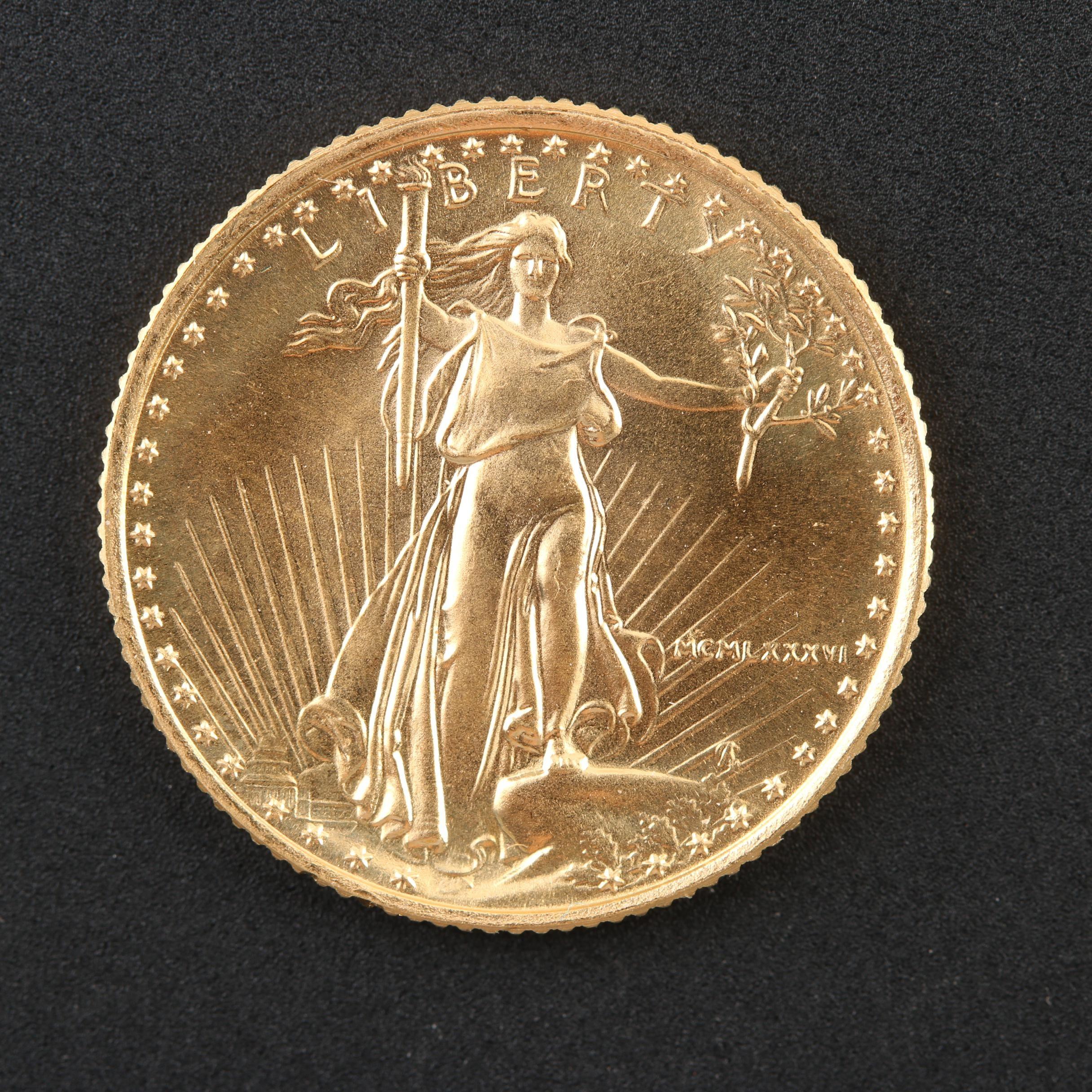 1986 $5 Gold Eagle 1/10 Oz. Bullion Coin