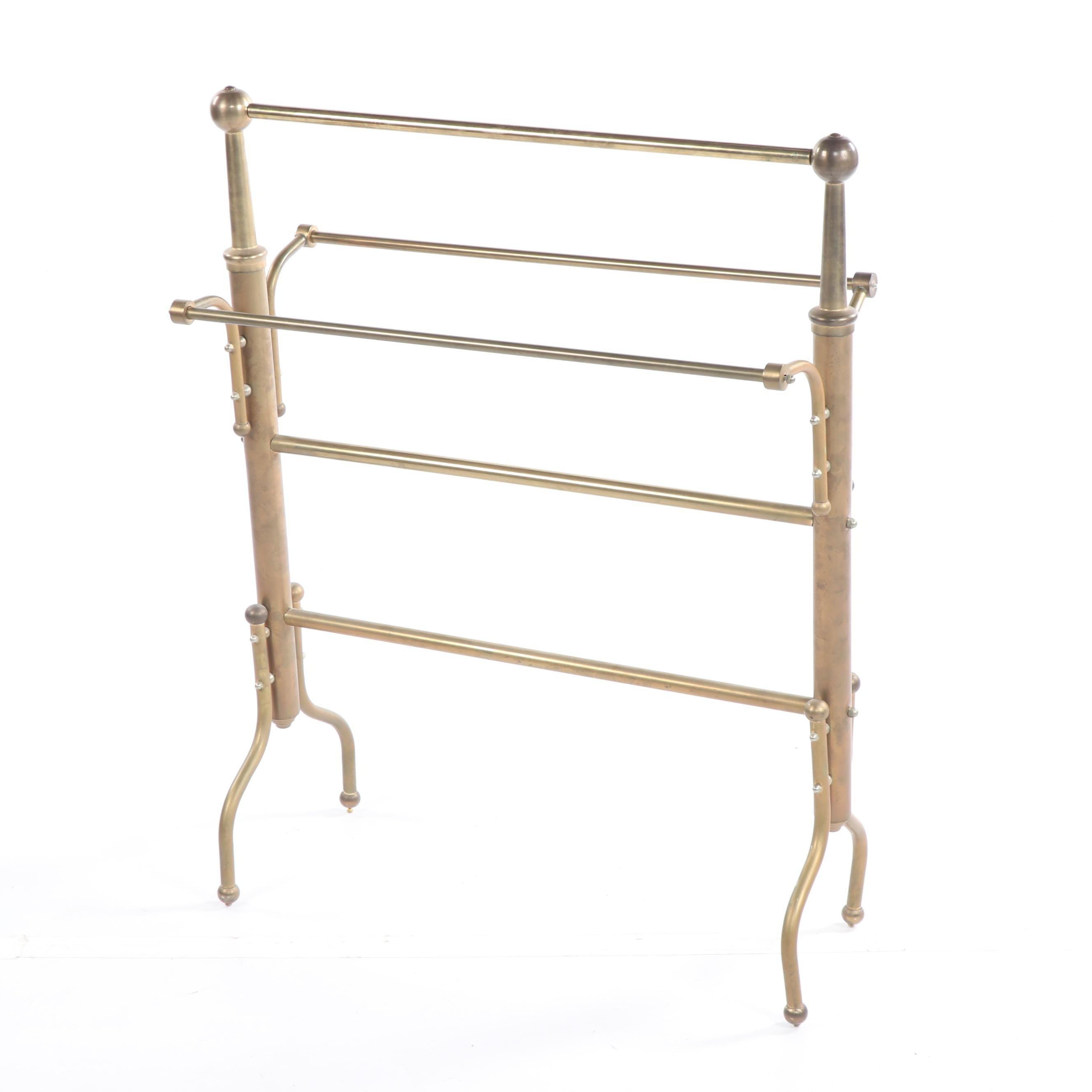 Federal Style Brass Quilt Rack, 20th Century