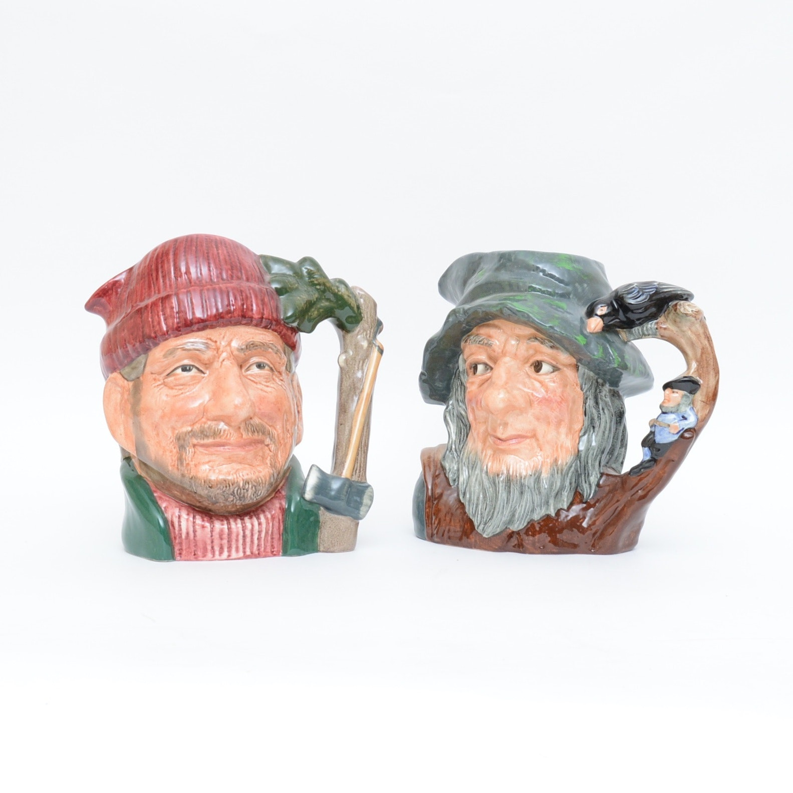 Pair of Vintage Royal Doulton Toby Mugs