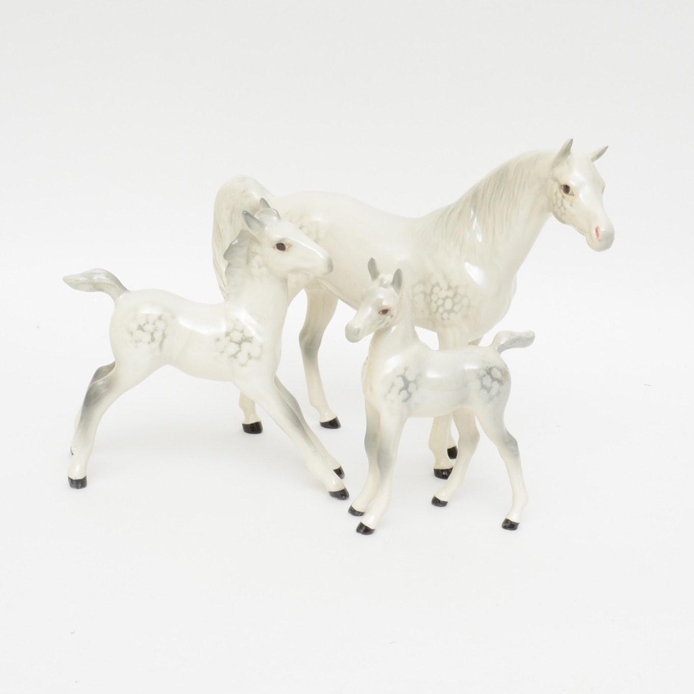 Beswick Porcelain Lippizan Horse Figurines