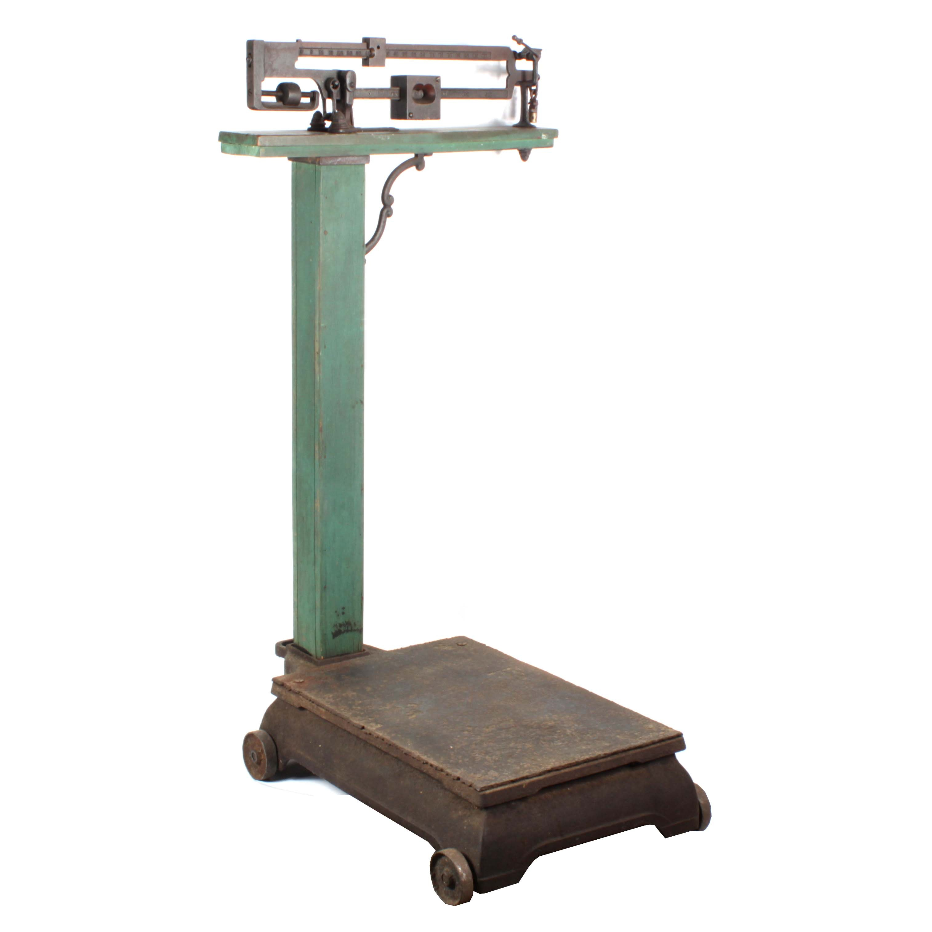 Antique Cast Iron Feed Scale