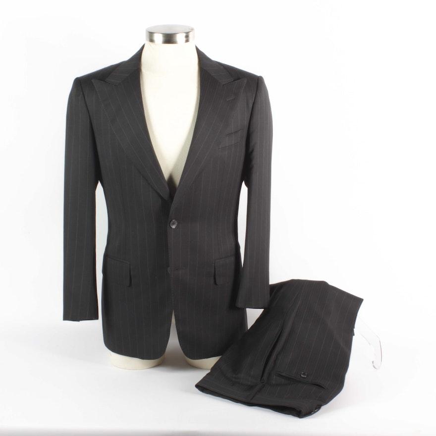 2d5c6af59b Men's Gucci Two-Piece Pinstripe Wool Suit : EBTH