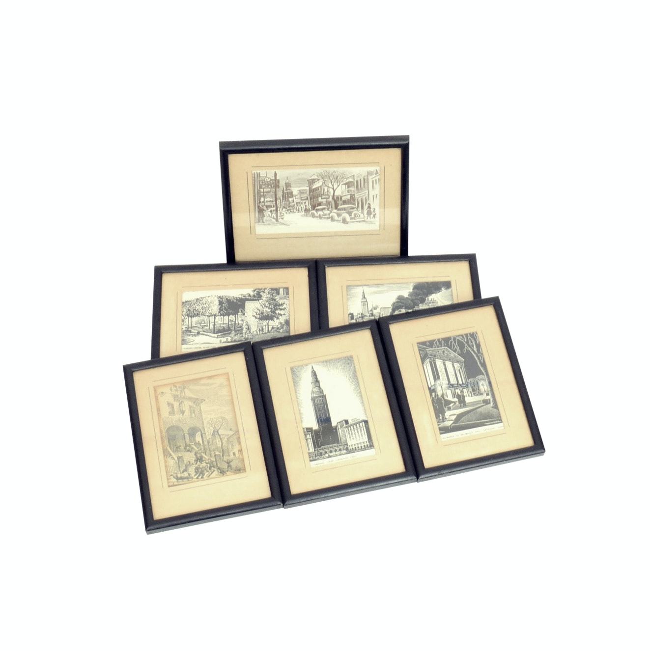 Collection of Prints After Woldemard Neufeld Featuring Scenes of Cleveland, Ohio
