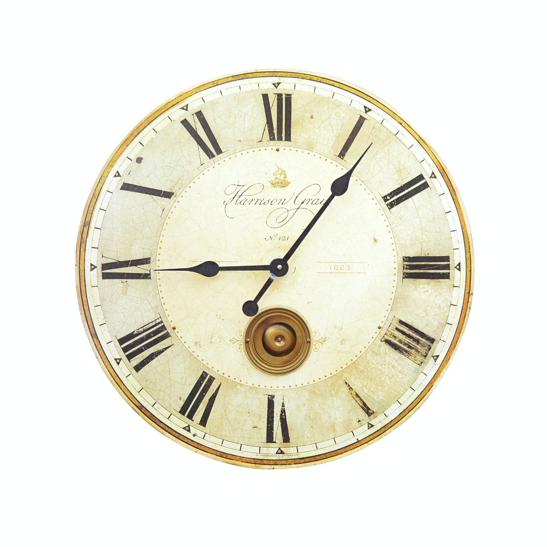 Harrison Gray Wall Clock from Uttermost