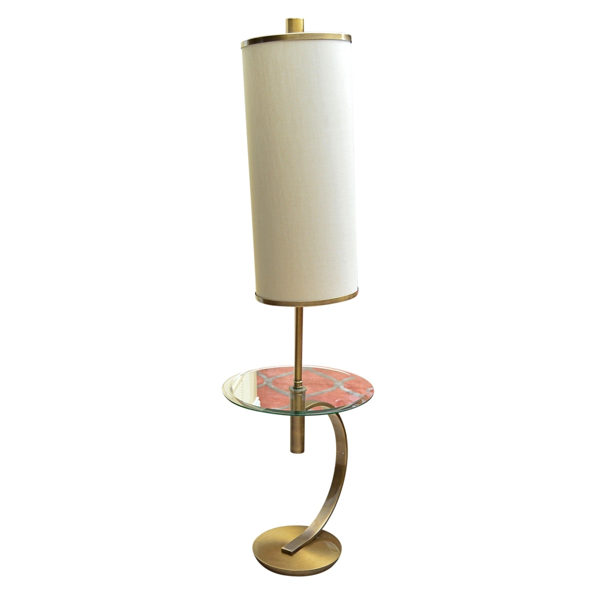 Mid Century Modern Style Floor Lamp with Table