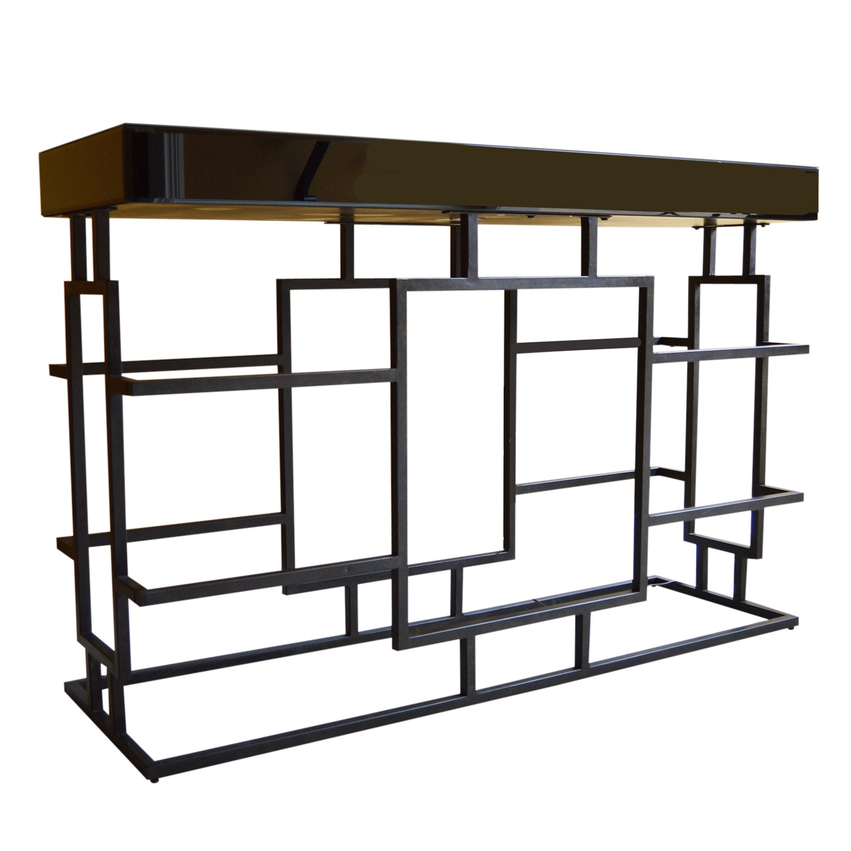 Modern Metal and Lacquer Console Table from Uttermost
