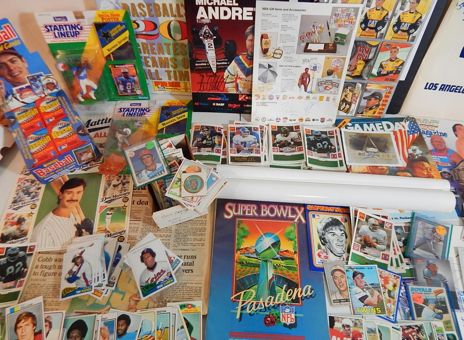 Sports Card and Memorabilia Collection with Stars, HOF, Signed Magazine
