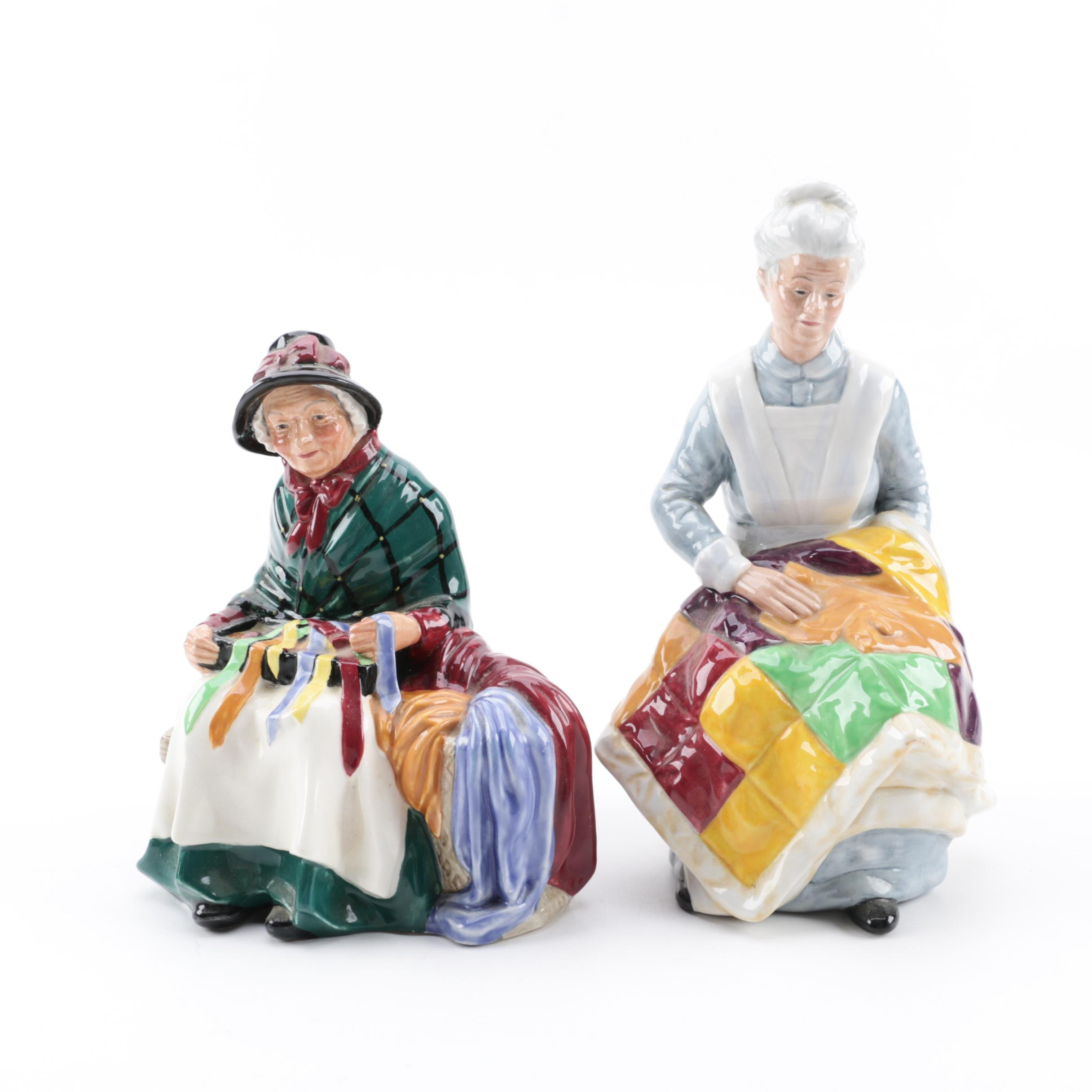 """Royal Doulton """"Silks and Ribbons"""" and """"Eventide"""" Figurines"""