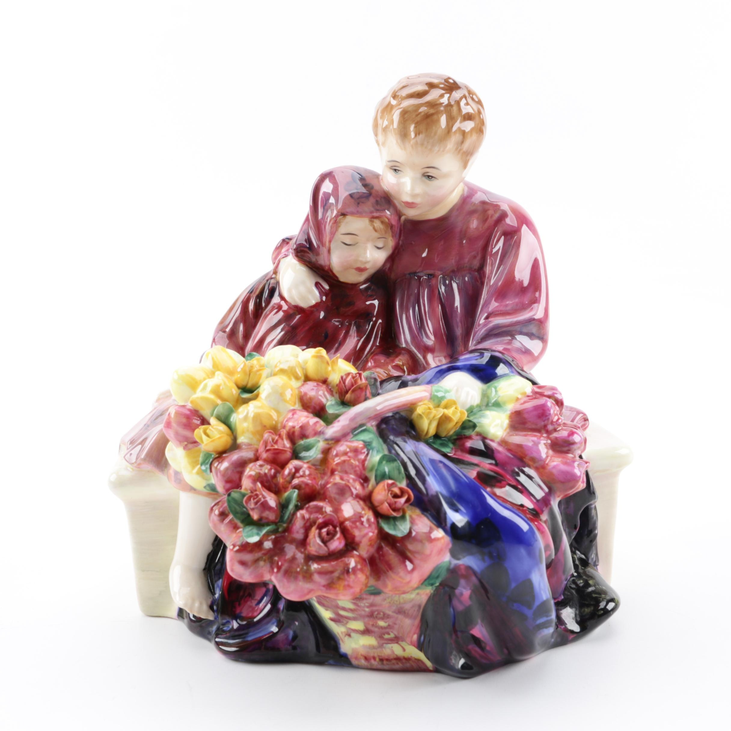 "Royal Doulton ""Flower Sellers Children"" Bone China Figurine"