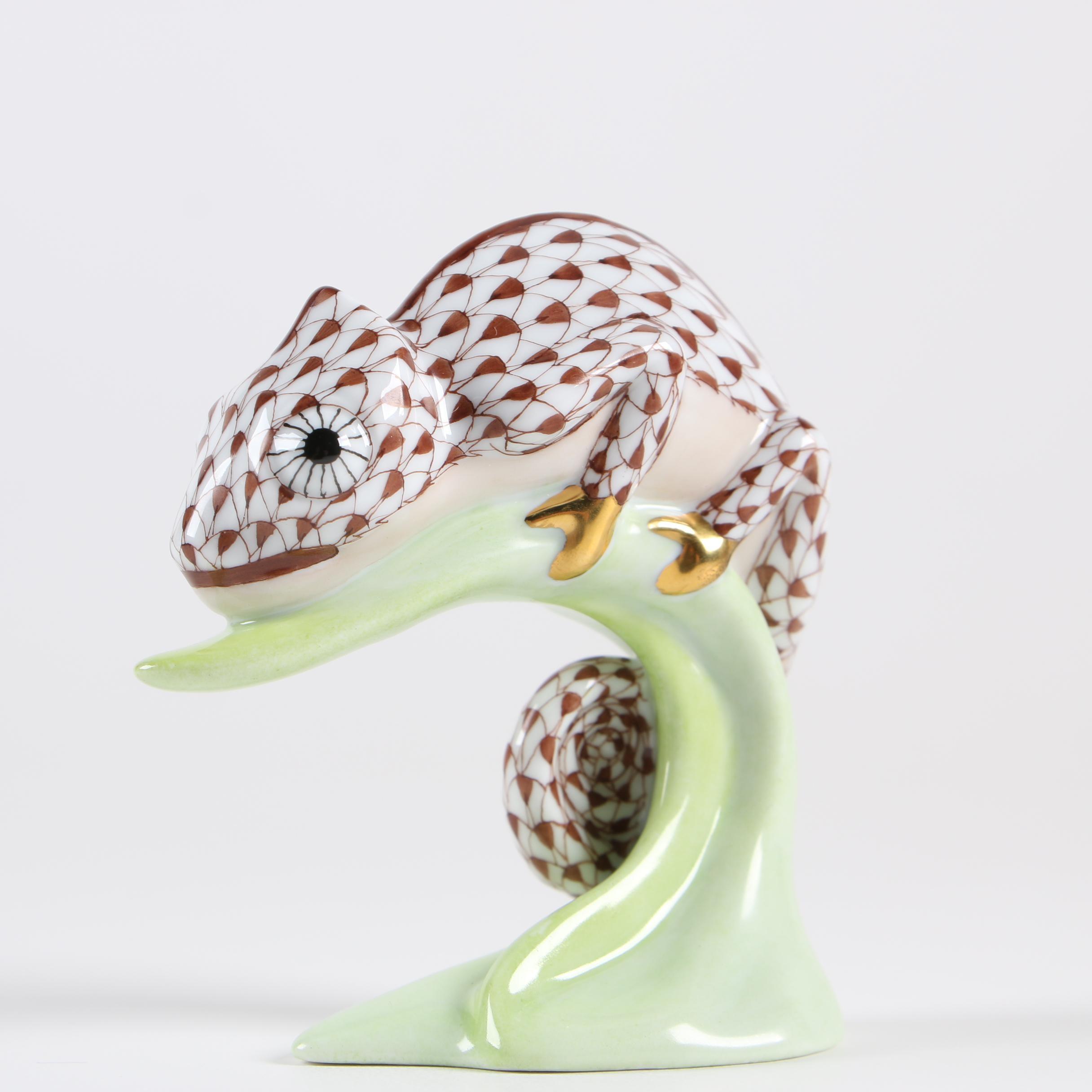 """Herend """"Chameleon"""" Porcelain Figurine"""