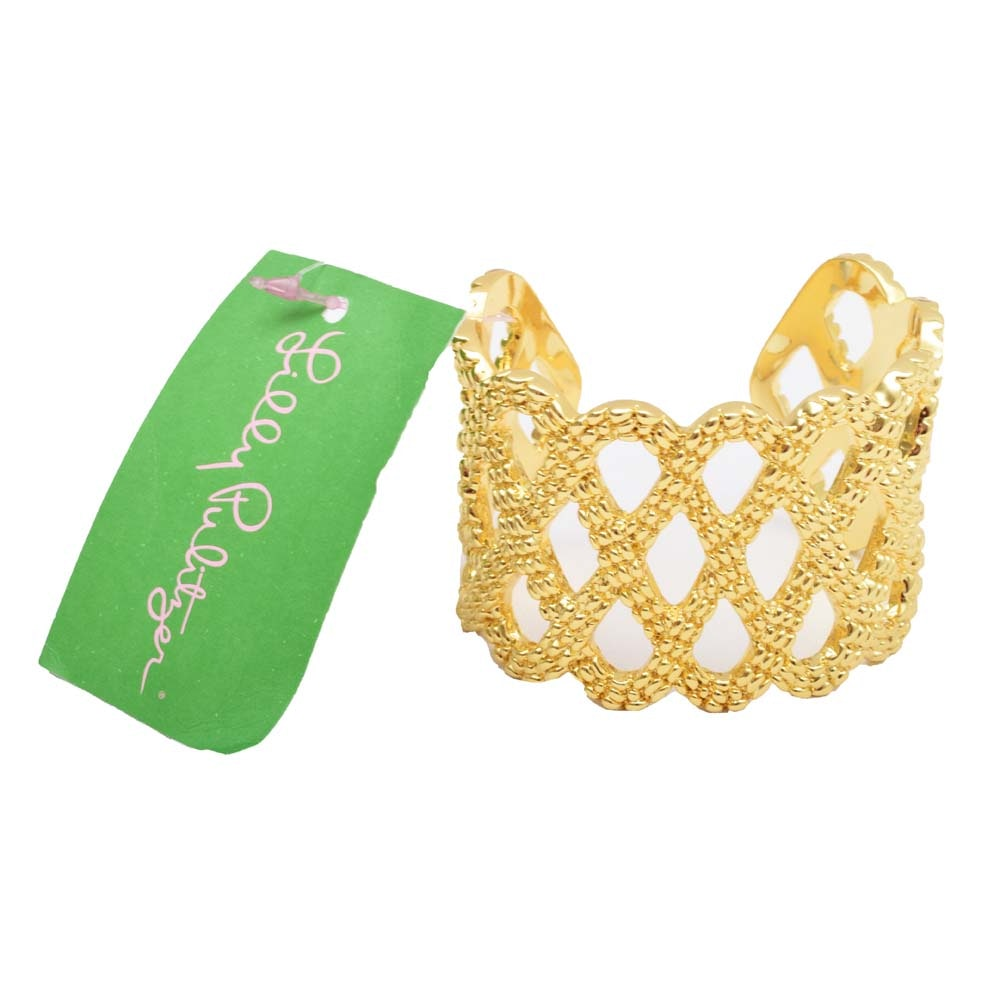 Lilly Pulitzer Gold Tone Cuff Bracelet