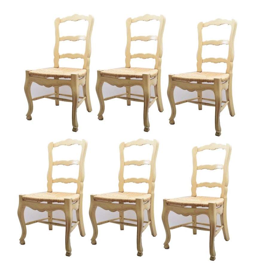 a38ade18270 French Country Style Ladder Back Dining Chairs   EBTH