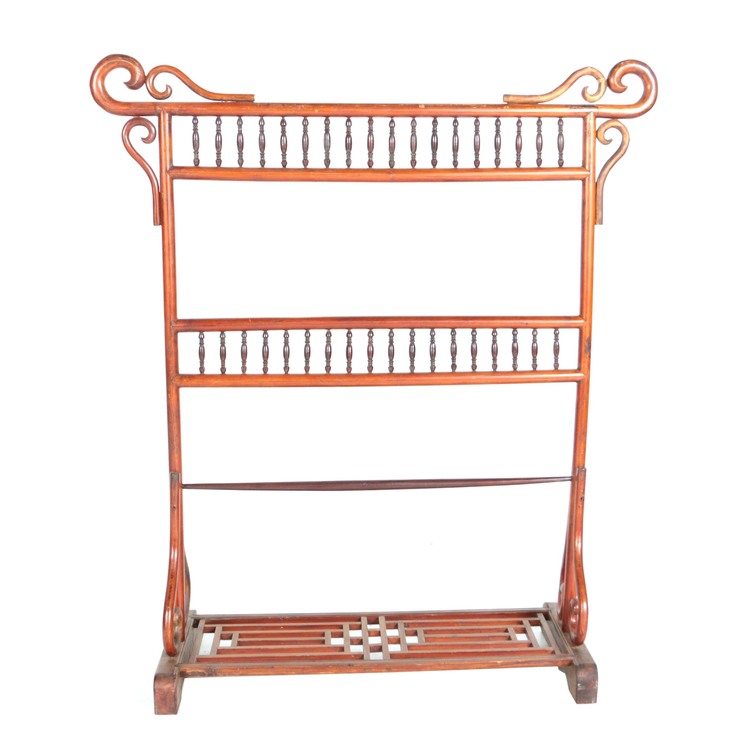 Qing Dynasty Hardwood Clothes Rack, Late 19th/Early 20th Century