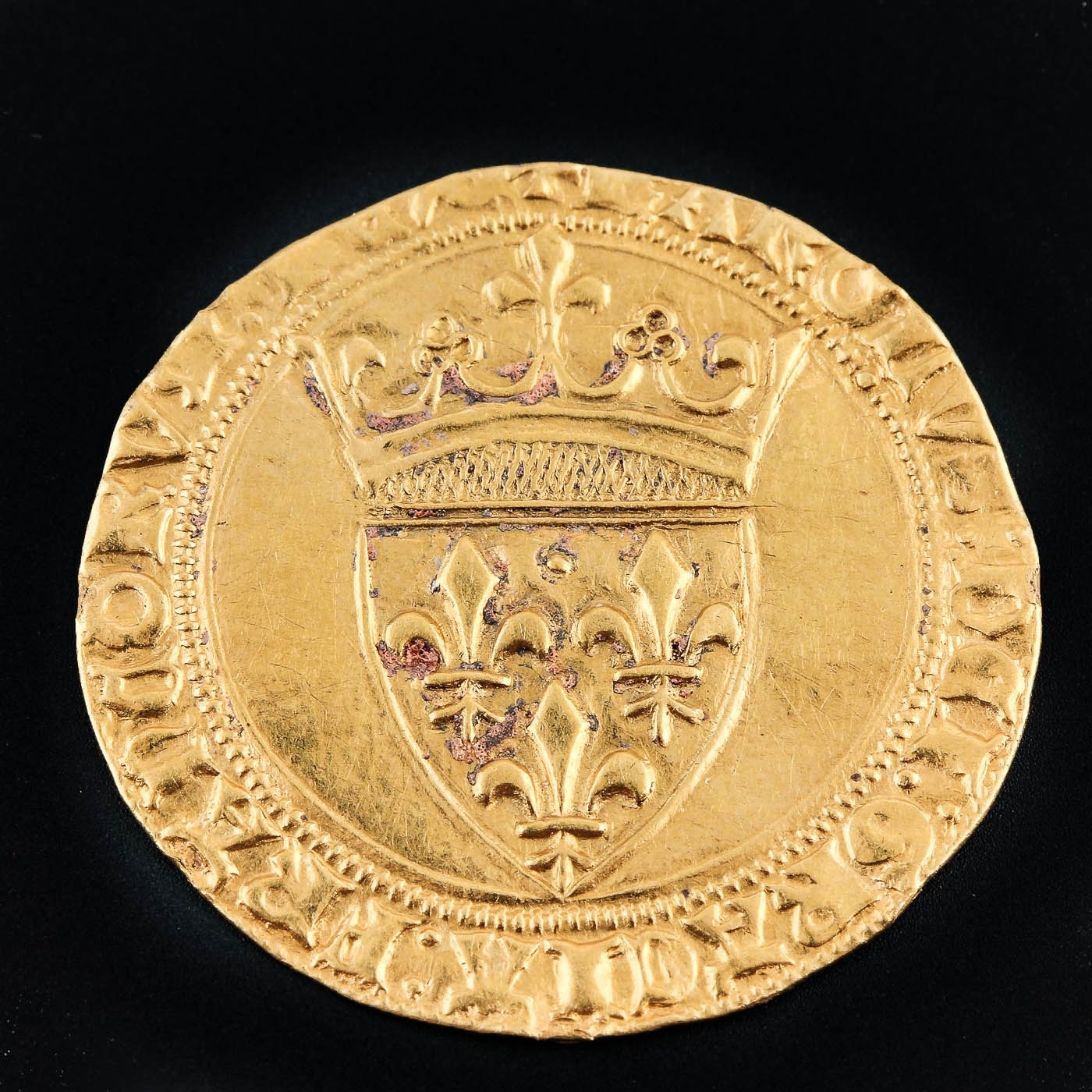 French Écu d'Or Gold Coin of Charles VI, ca. 1389