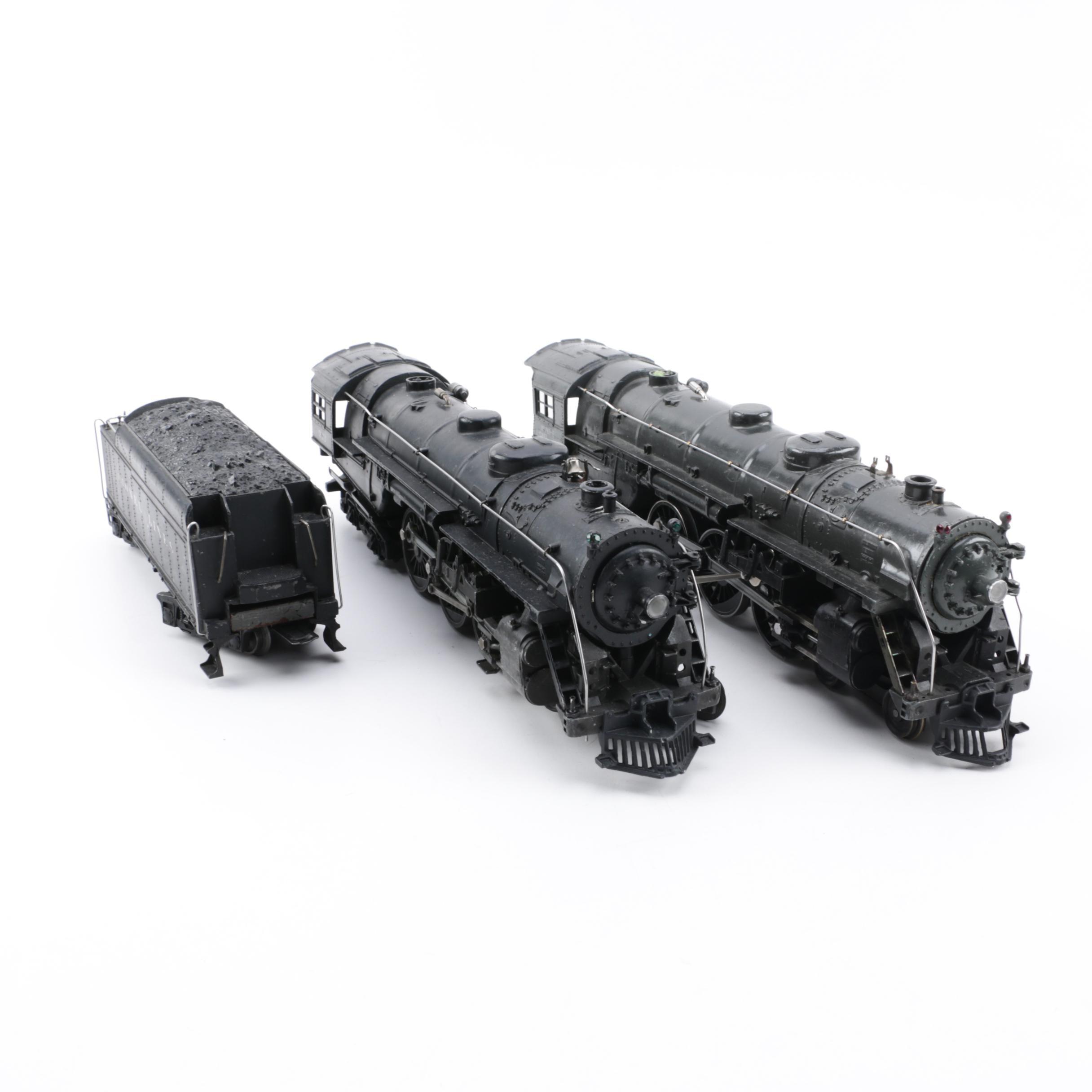 Lionel Hudson Type Steam Locomotives and Tender including Pre-War
